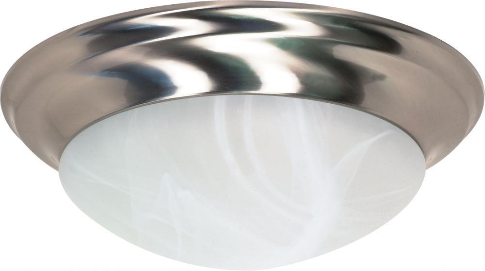 Nuvo Gothamシャンデリア 60/285 1 B0015N6VGI Brushed Nickel / Alabaster Glass|17インチ ツイストアンドロック Brushed Nickel / Alabaster Glass