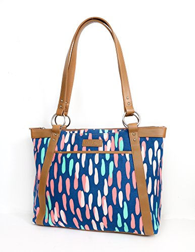 kailo-chic-pleated-laptop-tote-confetti-dots