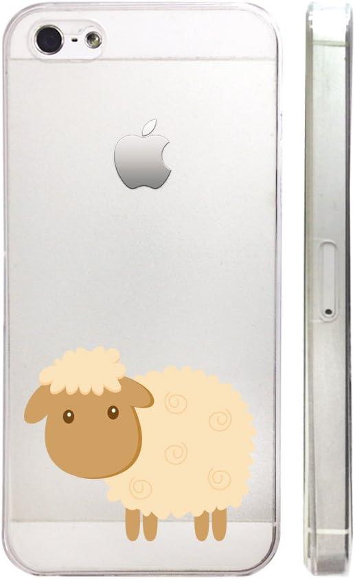 Mignon Mouton Plastique Transparent Coque de téléphone téléphone ...