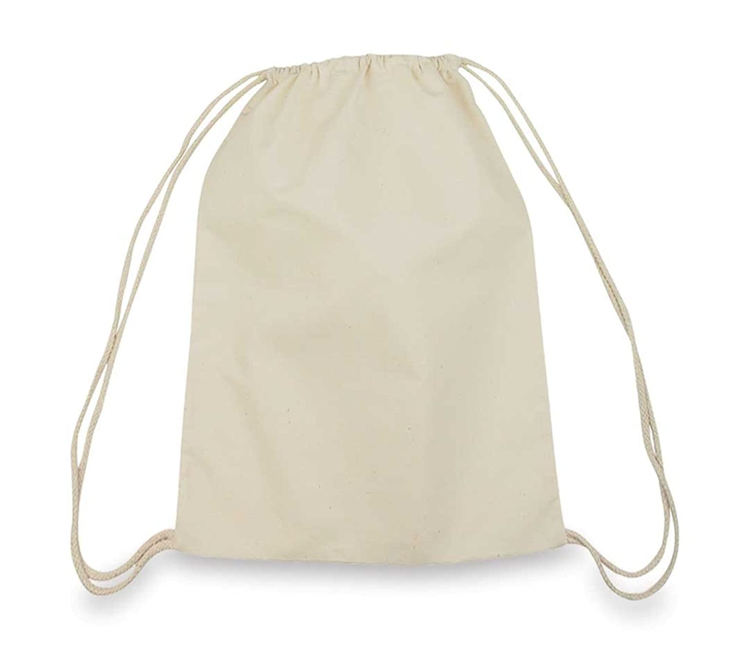 Drawstring Bag Backpack Sack Made of Cotton in Natural White ...