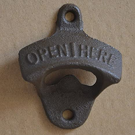 Silver Vintage Heavy Duty Cast Iron Retro Wall Mounted Beer Bottle Opener CKB LTD IGGI Home Indoors Or Outdoors Bar