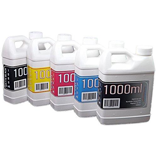 Epson SureColor T3000, T3270, T5000, T5270, T7000, T7270 printer 5 multi-color bottles Pigment Ink 1000ml each color -  Try The Ink, PXD1000-5