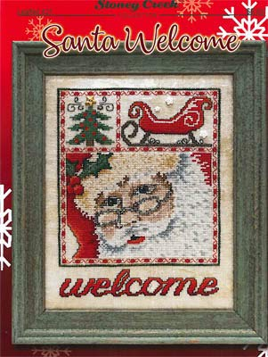 Welcome Cross Stitch Chart (Santa Welcome Cross Stitch Chart)