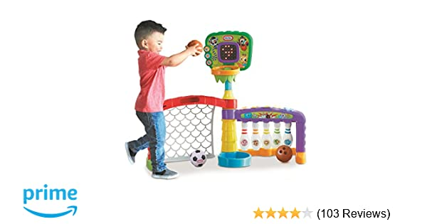 c877818c7f4f7 Amazon.com  Little Tikes Little Tikes 3-in-1 Sports Zone  Toys   Games