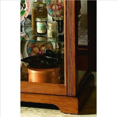 Pulaski Two Way Sliding Door Curio, 30 by 20 by 80-Inch, Golden Oak II Finish, Medium Brown