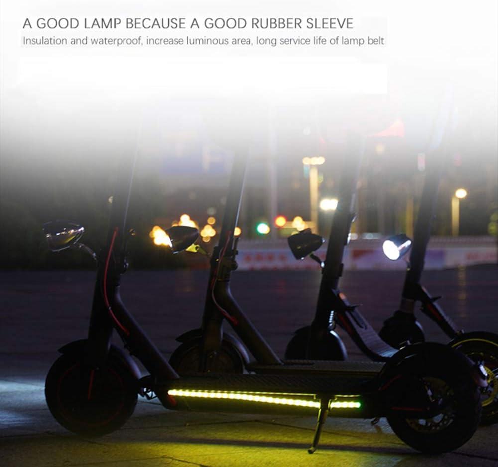 Tira de Luces LED Plegable monopat/ín de Seguridad Phonleya Scooter el/éctrico l/ámpara de Color Decorativa para Xiaomi M365 // Pro//ninebot Ciclismo Nocturno Impermeable