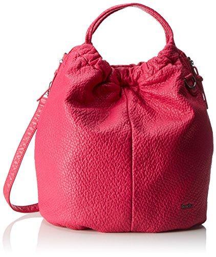 Boscha Damen Bo-1084-Aa Schultertasche, 18x43x42 cm Pink (Pink)