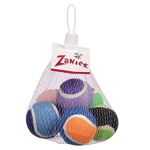 Zanies Mini Tennis Balls for Dogs, 6-Packs