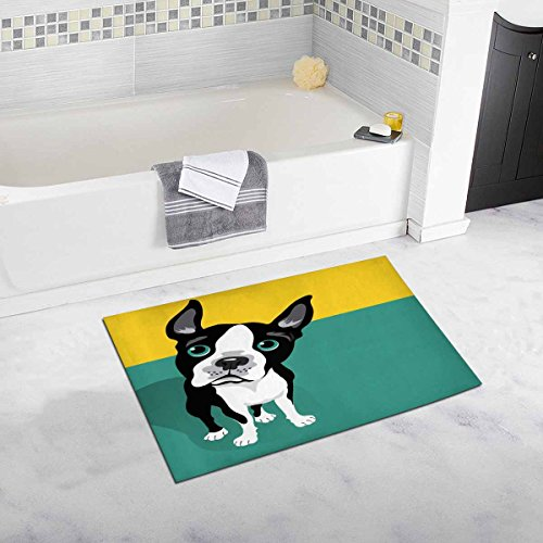 InterestPrint Cute Boston Terrier Dog with Space 20