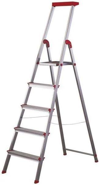 Escalera Rolser Aluminio Brico 5 Peldaños: Amazon.es: Hogar