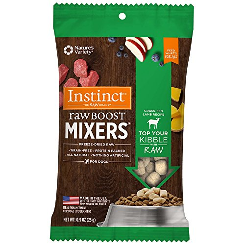 Instinct Freeze Dried Raw Boost Mixers Grain Free Lamb Formula All Natural Dog Food Topper by Nature's Variety, 1 oz. Trial Size Bag