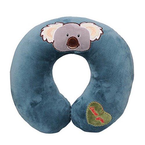 Almohada linda de la forma del patrón U de Koala Almohada cómoda de la ayuda del cuello