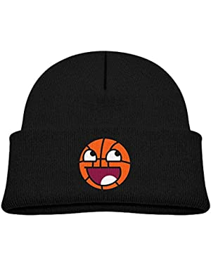 Fashion Basketball Face Printed Newborn Baby Winter Hat Beanie