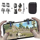 PUBG Mobile Game Controller [4 Triggers+5 Keychains] - Aovon Sensitive Shoot Aim Joysticks Physical Buttons PUBG/Fortnite/ Knives Out/Rules Survival, Gift Kids Players