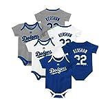 Clayton Kershaw Dodgers Majestic Toddler 3-Pack Baby Onesie Bodysuit Set
