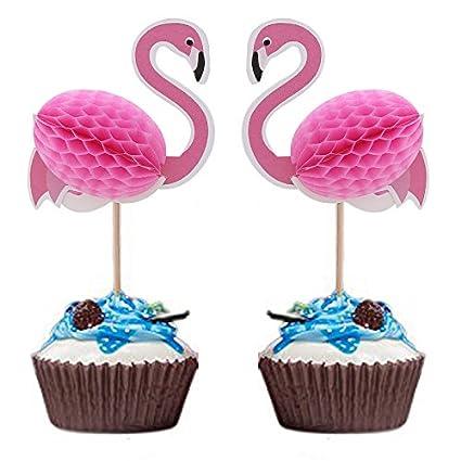 Amazon Joinor 24pcs 3d Flamingo Cupcake Muffin Topper Picks