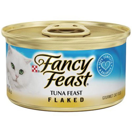 Fancy Feast Cat Food Flaked Tuna Feast, 3 oz