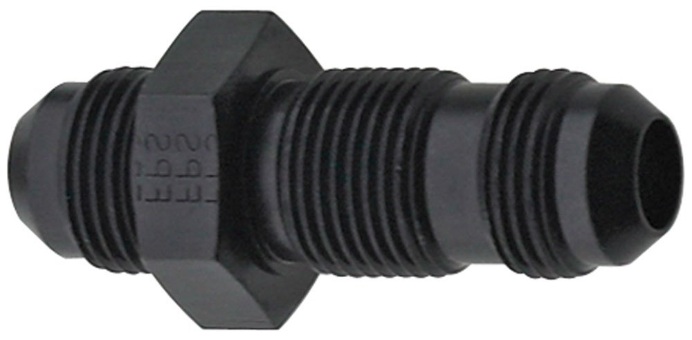 Fragola 483208-BL Black Size (-8) Straight Bulkhead Fitting