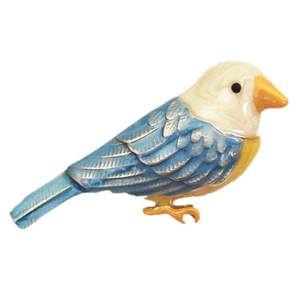 Birdie Brooch For Women Wedding Dress Hat Pins Enamel Cute Bird Pendant Choker Necklace Sweater Chain