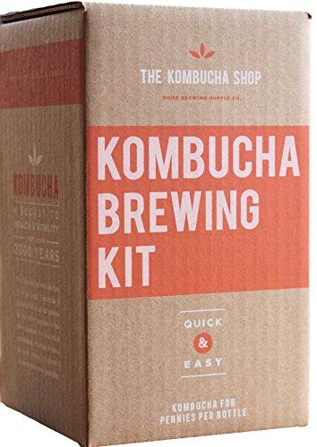 The Kombucha Shop Kombucha Starter Kit - 1 Gallon Brewing Kit Includes Everything You Need To Brew Kombucha At Home