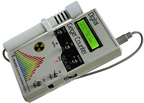 GCA-07W Professional Geiger Counter Nuclear Radiation Detection Monitor with Digital Meter and External Wand Probe - NRC Certification Ready- 0.001 mR/hr Resolution -- 1000 mR/hr Range by Images SI Inc.