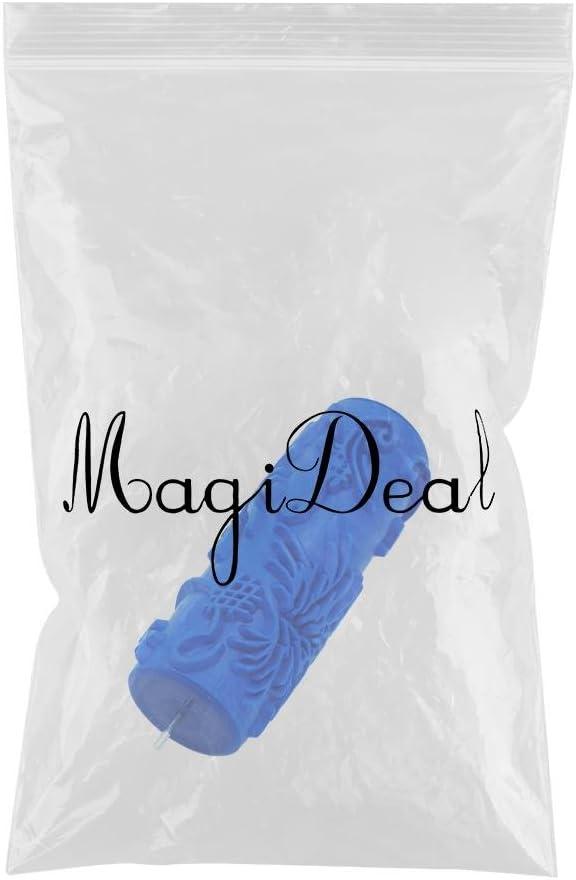 # 11 MagiDeal 5  Gaufr/é Peinture Rouleau De Peinture Manchon Mur Pochoir Brosse Fleur Motif D/écor