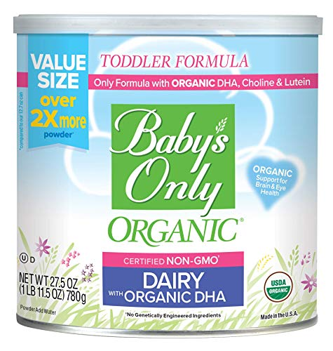 Baby's Only Dairy with DHA & ARA Toddler Formula - Non GMO, USDA Organic, Clean Label Project Verified, Value Size (Pack of 6), 165 oz from Baby's Only