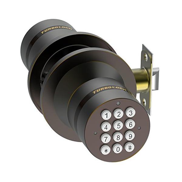 TurboLock-Keyless-Electronic-Keypad-Entry-Door-Lock-Smart-Knob-Kit-with-Automatic-Locking-Battery-Backup-Easy-Installation-No-Bluetooth-Bronze