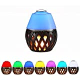 Led Flame Atmosphere Lamp with Ultrasonic Aroma Air Diffuser LED Color Changing Air Humidifier Dancing Flame Lighting Decoration