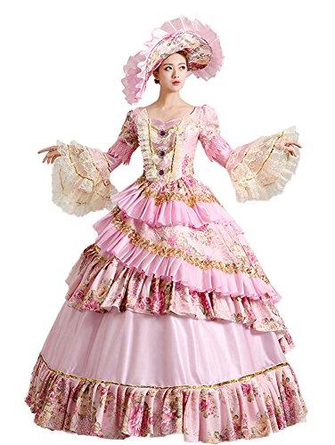 Zukzi Women's Prom Gothic Victorian Fancy Palace Masquerade Dresses, 0591 US 6 by Zukzi