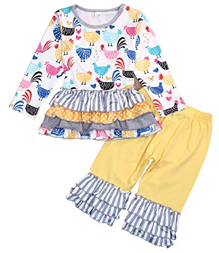 Girl Clothes Boutique - Girls Toddler Deluxe Novelty Ruffle Summer