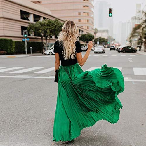 Coton Pour Haute Elégante De Casual Mariage Vert Boheme Soirée Satin Tour Amuster jupe Dress Vintage Elastique En Taille Plage Chiffon Jupe Femme Longue 67vyIbgmYf