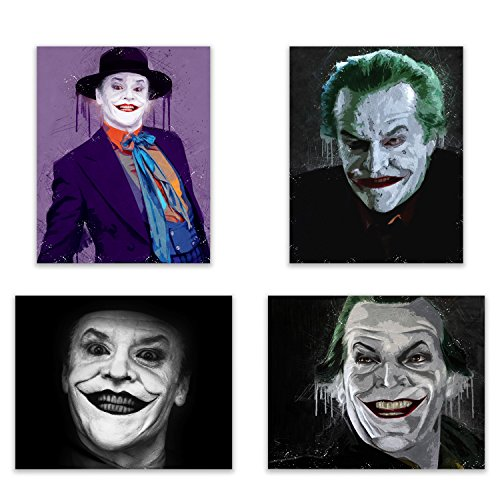 Jack Nicholson Joker   The Portrait Art Print Collection   The Classic Dc Comic Book Villain And Enemy Of Batman   In This Vibrant  Pop Art Deluxe Poster Collection   4 8X10 Photos