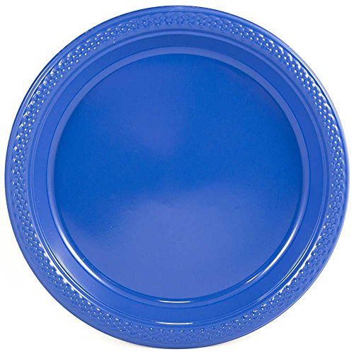 Appetizer Blue (JAM Paper Round Plastic Party Plates - Small - 7