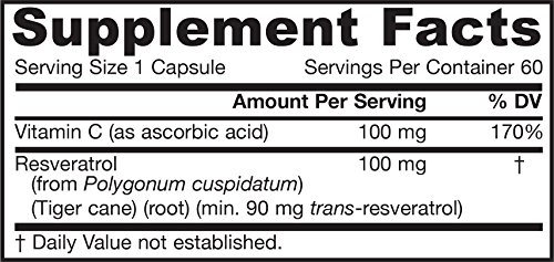 Jarrow Resveratrol 100mg , 60 caps ( Multi-Pack) by Jarrow Formulas (Image #1)