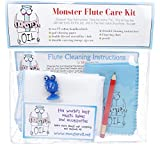 Monster Flute Care and Cleaning Kit | Polishing Cloth, Fingering Chart, Two Handkerchiefs. Everything You Need to Take Care of Your Flute