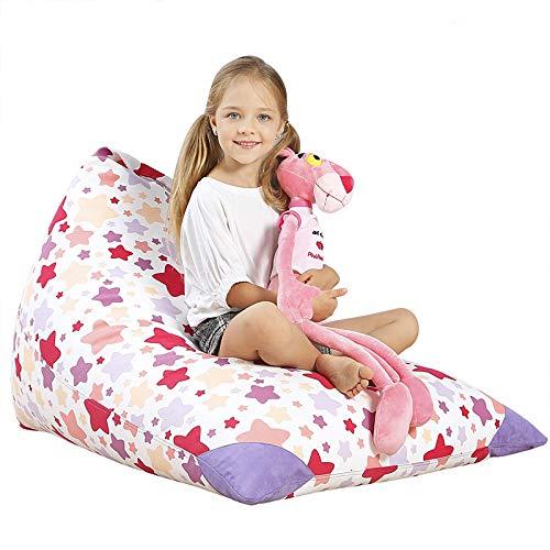- Aubliss Stuffed Animal Storage Bean Bag Chair - Plush Animal Toy Organizer for Kids, Girls and Children | Extra Large | 23 Inch Long YKK Zipper | Premium Cotton Canvas (NATA Star)