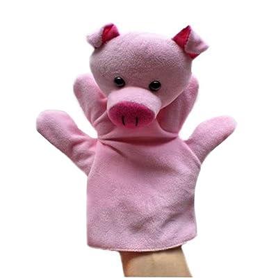 Animal cerdo de peluche de juguete para niños marionetas de mano: Juguetes y juegos