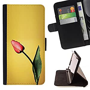 Jordan Colourful Shop - tulip spring painting art flower For Apple Iphone 5 / 5S - Leather Case Absorci???¡¯???€????€????????&c