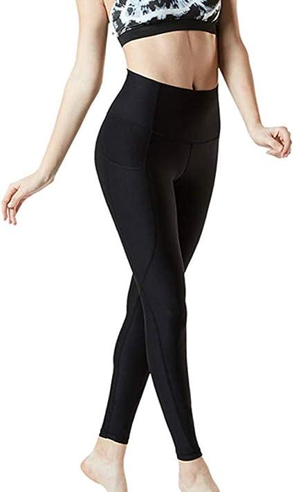 ALISIAM Legging De Sport Femme Taille Haute avec Poche