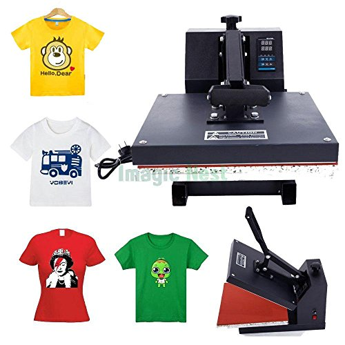 Z ZTDM Digital Heat Press Transfer Sublimation Multifunction Machine Poweful Rhinestone/T-Shirt Heat Press Mouse Pads Jigsaw Puzzles DIY Press w/ Dual LCD Timer Black US Standard 110V (Clamshell) by Z ZTDM