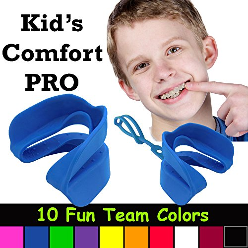 uth Double Sports Mouth Guard Wear With or Without Braces (Blue) ()