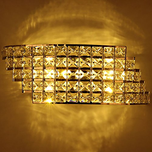 6W Modern Bedside Led Wall Lamp Crystal Bedroom Aisle Living Room Wall Light Warm Light