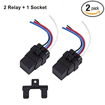 Amazon.com: DC Relay 12V 4 Pin, Automotive Relay 12V 40A ... on
