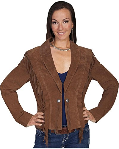 (Scully Women's Bolero Fringe Suede Jacket Cinnamon X-Large)