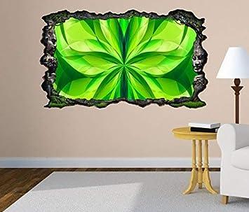 3d Wandtattoo 3d Effekt Blume Grün Spirale Hintergrund Abstrakt