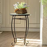 Giantex Mosaic Round Side Accent Table Patio Plant