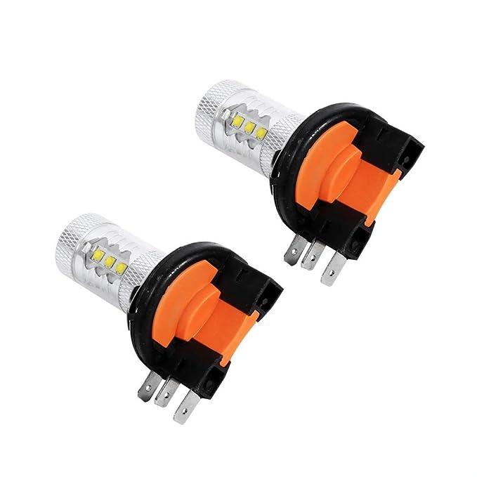 Qiilu 2pcs HID Blanco 80W H15 Bombillas LED L/ámpara de luces diurnas
