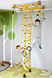 NiroSport FitTop M1 Indoor Jungle Gym Wall Bars for Kids Swedish Ladder Climbing Frame, Certified Safety, Easy Assembly, Max. Load 130 kg, Made in Germany