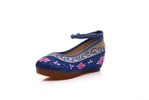 Lazutom - Sandalias de Vestir para Mujer, Color Azul, Talla 34 EU